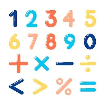 Hand gezeichnetes mathematisches symbolpaket