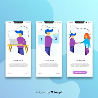 Hand gezeichnetes mobiles app-konzept