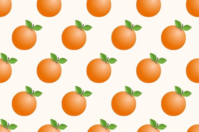 hand gezeichnetes nahtloses muster der orange frucht