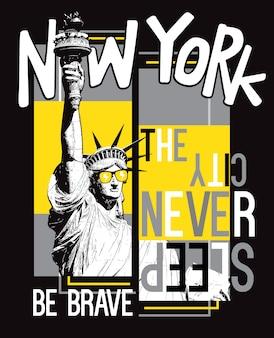 Hand gezeichnetes new york
