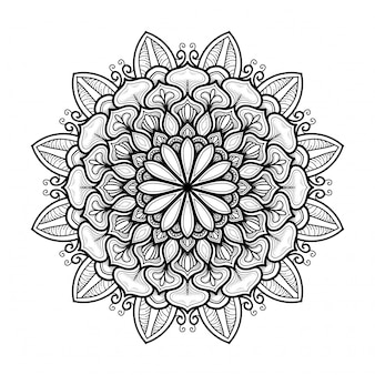 Hand gezeichnetes orientalisches mandala