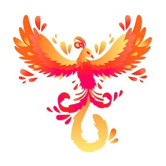 Hand gezeichnetes phoenix-konzept