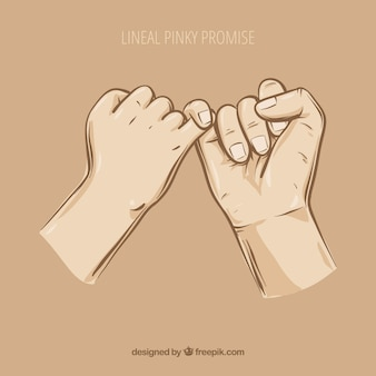 Hand gezeichnetes pinky-versprechenkonzept