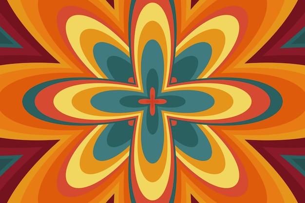 Hand gezeichnetes psychedelisches grooviges hintergrundkonzept