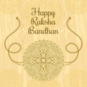 Hand gezeichnetes raksha bandhan konzept