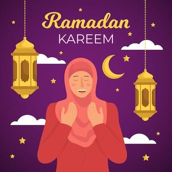 Hand gezeichnetes ramadan-konzept dargestellt