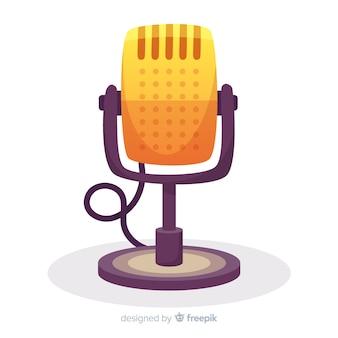 Hand gezeichnetes retro- mikrofon