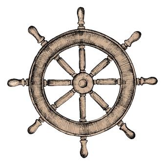 Hand gezeichnetes schiffsrad