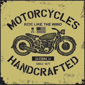 Hand gezeichnetes vintage motorrad