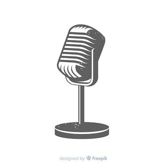 Hand gezeichnetes weinlesemikrofon