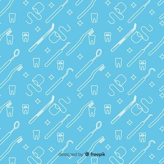 Hand gezeichnetes zahnmedizinisches produktmuster