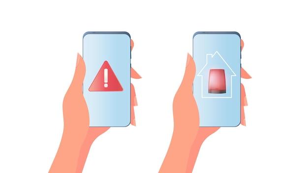 Hand hält ein mobiltelefon. mädchen hält das telefon in ihrer handnahaufnahme.