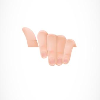 Hand hält ein weißes papier
