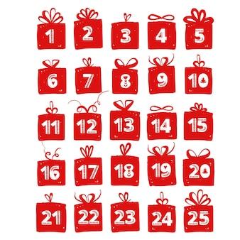 Hand hält eine weihnachtsgeschenkbox urlaubsgrüße gibt geschenke