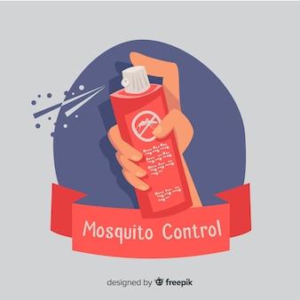 Hand hält mückenspray