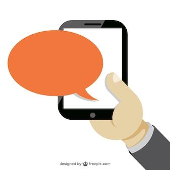 Hand halten smartphone kostenlosen vektor