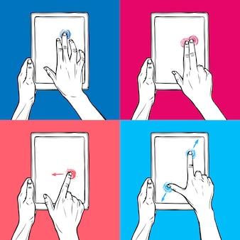 Hand halten tablet