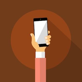 Hand halten zelle smartphone