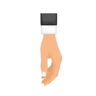 Hand in pose. männliche oder weibliche hand im cartoon-stil