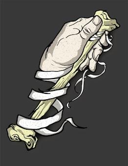Hand knochen tattoo banner
