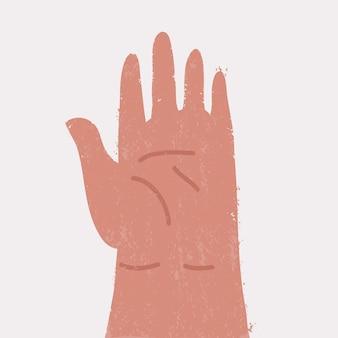 Hand menschlich isoliert