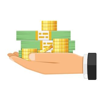 Hand mit geld