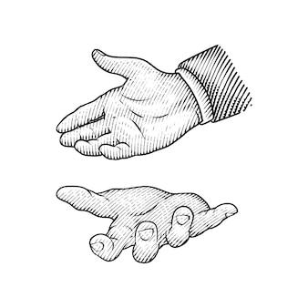 Hand- oder fingerzeichnung