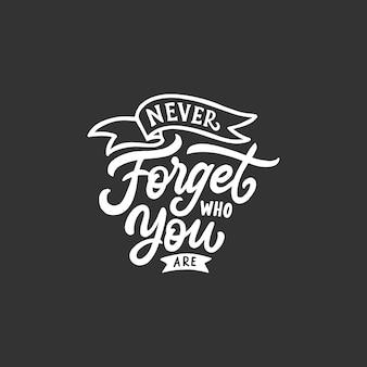 Hand schriftzug und typografie zitiert motivation für das leben