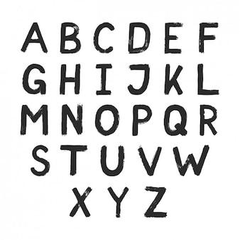 Hand schwarz lackiert typographie