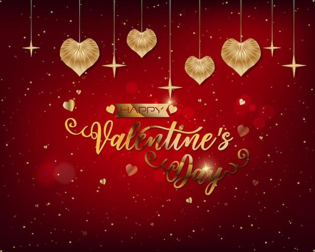 Hand skizzierte glücklichen valentinstagtext als valentinstagfirmenzeichen / -ikone.