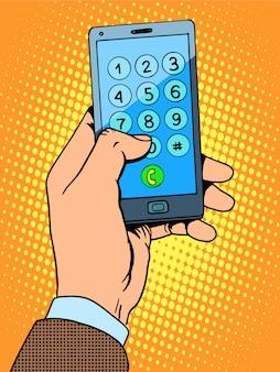 Hand smartphone-telefonnummer