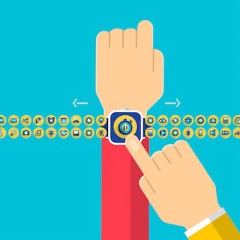 Hand smartwatch