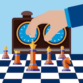 Hand spielt schach