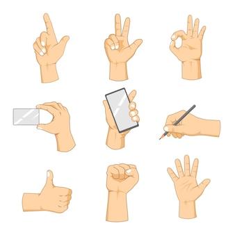 Hand wirft illustrations-sammlungen auf