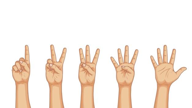 Hand zählen