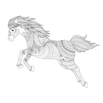 Hand zeichnen pferd hintergrund