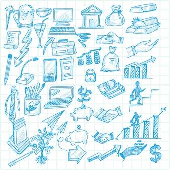 Hand zeichnen technologie skizze gekritzel set design