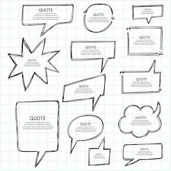 Hand zeichnen zitat skizze set-design