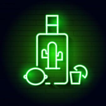 Handabgehobener betrag der tequila-flasche. vector illustration.hand gezeichnetes gestaltungselement für aufkleber und poster