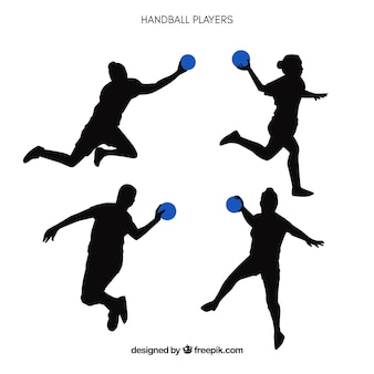 Handball spieler silhouette