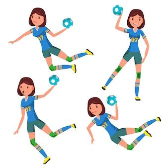 Handball spieler weiblich