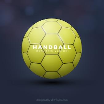 Handballball in der realistischen art