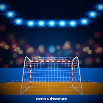 Handballfeldhintergrund in der realistischen art