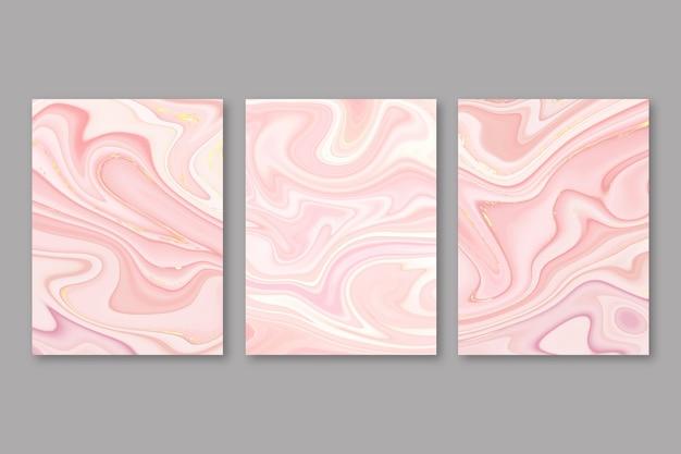Handbemalte abdeckungen aus flüssigem marmor