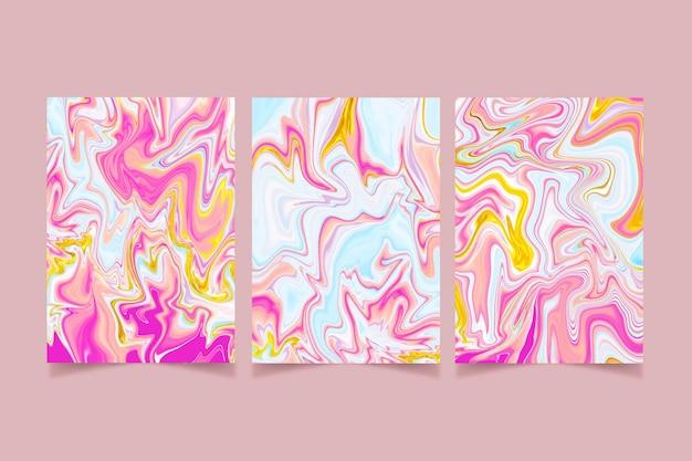Handbemalte flüssige marmorabdeckungen sammlung covers