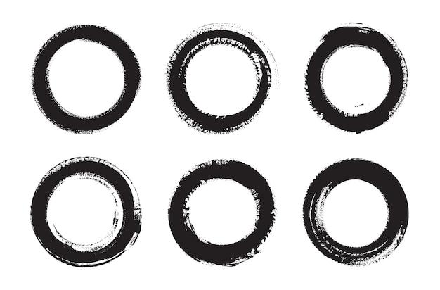 Handbemalte runde rahmen