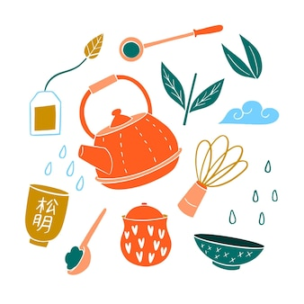 Handbemaltes japanisches teeservice