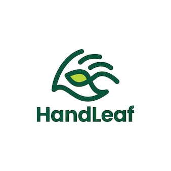 Handblatt geben hilfe-pflege-logo-vektor-symbol-illustration