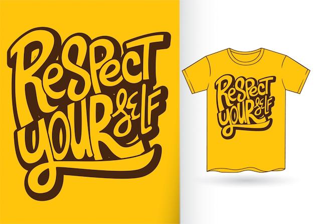 Handbriefgestaltung für t-shirt
