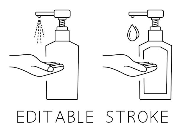 Handdesinfektionsmittel-pumpflasche handdesinfektionsmittel-alkohol-gel-flasche zum reinigen, desinfektion und waschen